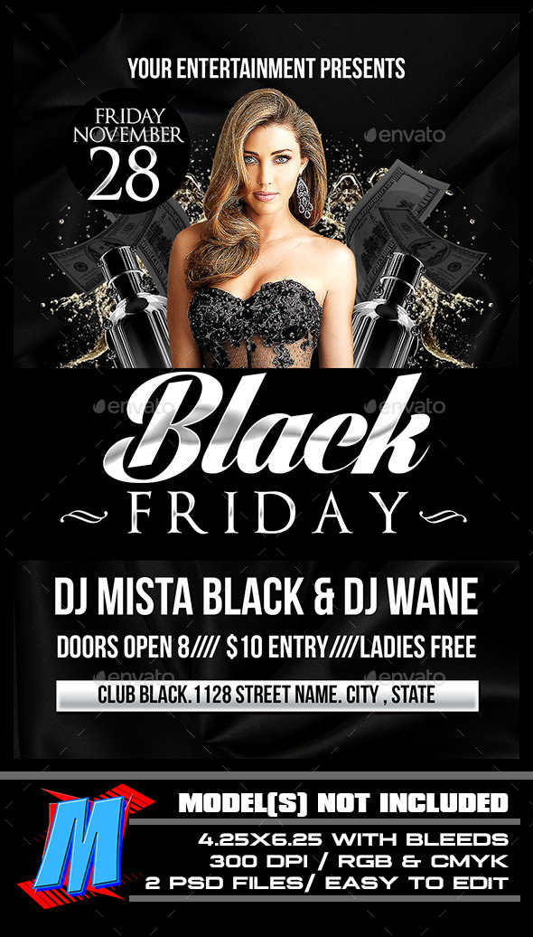 Black Friday Flyer Template By Megakidgfx  Graphicriver