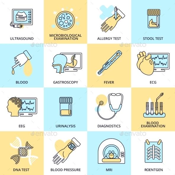 Medical Test Icons - Health/Medicine Conceptual