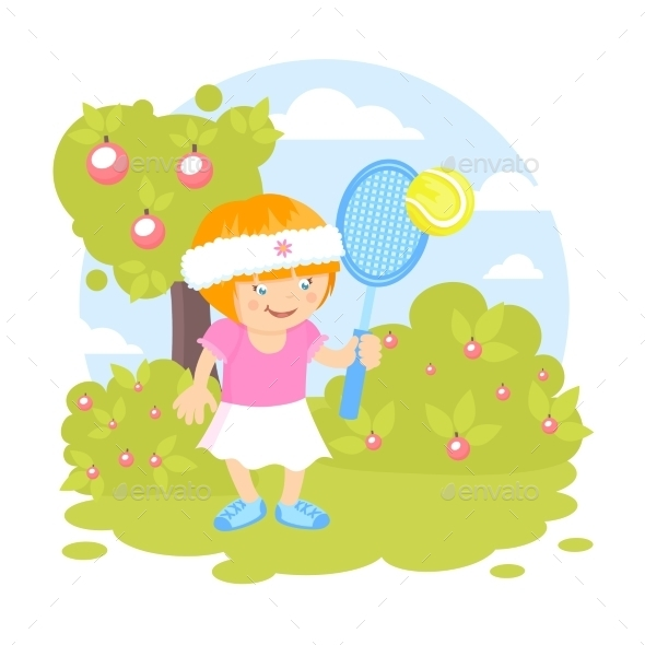 Girl Playing Tennis - Sports/Activity Conceptual