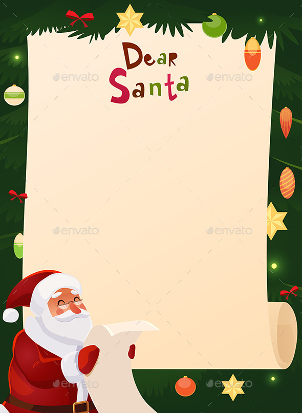 Wish List Card With Santa Claus By Kimiko16 Graphicriver