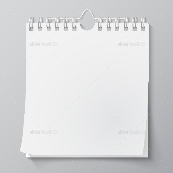 Blank Wall Calendar - Objects Vectors