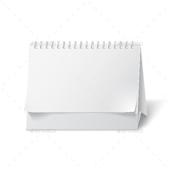 Blank Paper Desk Calendar - Objects Vectors