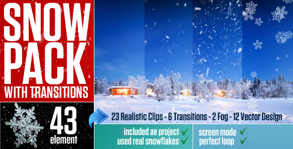Videohive - Snow Pack with Transitions 9580001