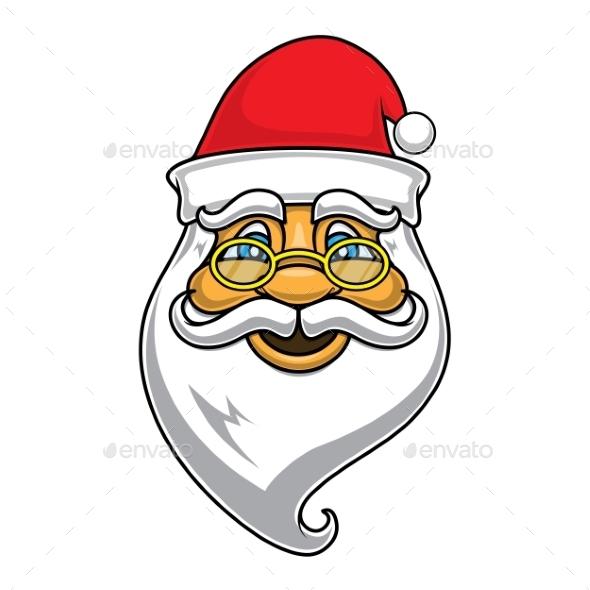Santa Claus Face - Christmas Seasons/Holidays
