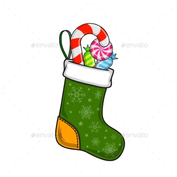 Christmas and New Year Decorative Sock - Christmas Seasons/Holidays