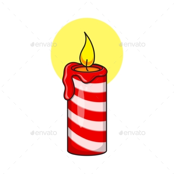 Christmas Decorative Candle - Christmas Seasons/Holidays