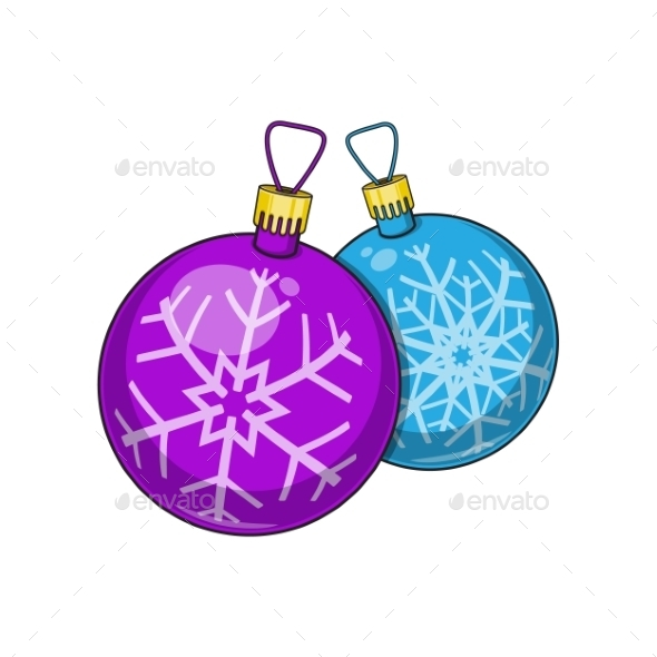 Christmas and New Year Decorative Balls - Christmas Seasons/Holidays