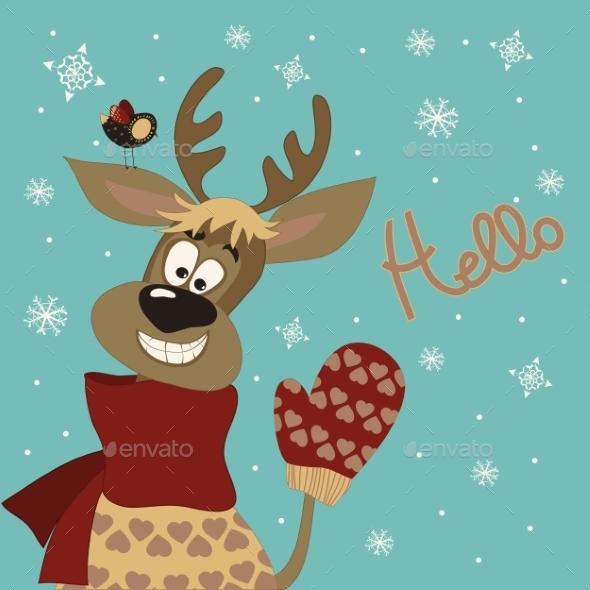 Reindeer Says Hello  - Christmas Seasons/Holidays