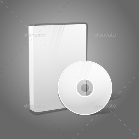 White Realistic Isolated CD and Case - Man-made Objects Objects