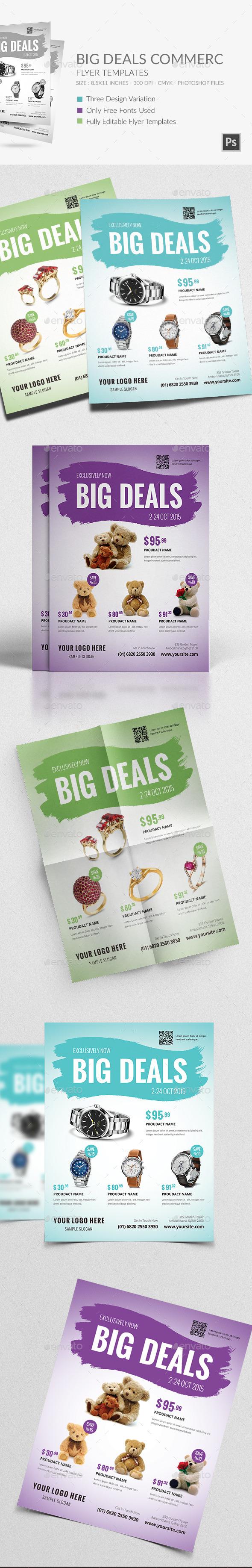 Big Deals Commerce Flyer Template - Commerce Flyers