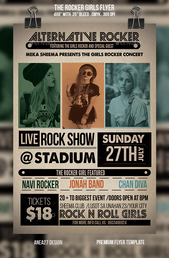 The Rocker Girls Flyer - Concerts Events