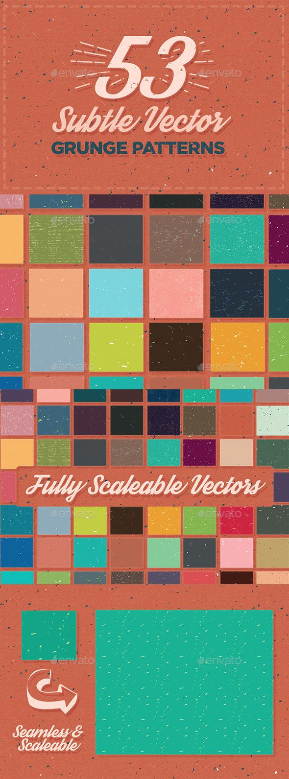 53 Subtle Grunge Patterns - Patterns Decorative