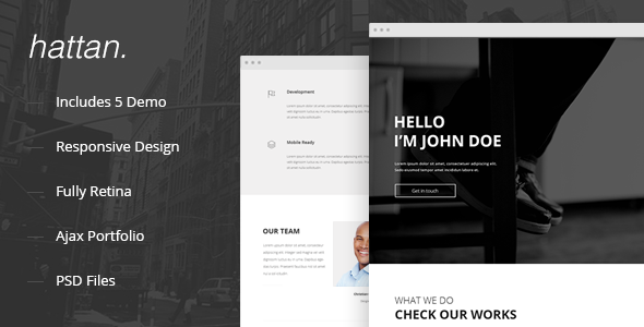 Hattan – Creative Onepage Multipurpose Template