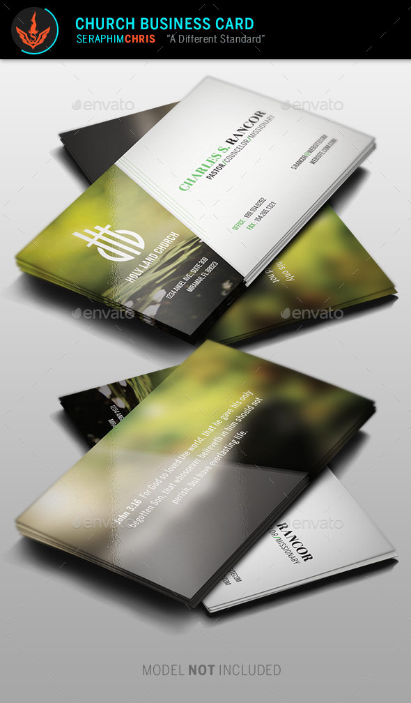 Church Business Card Template - Business Cards Print Templates