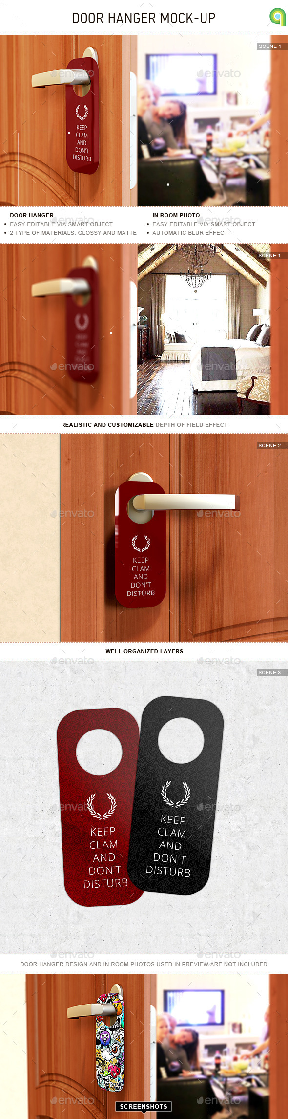 Door Hanger Mock-Up - Miscellaneous Print