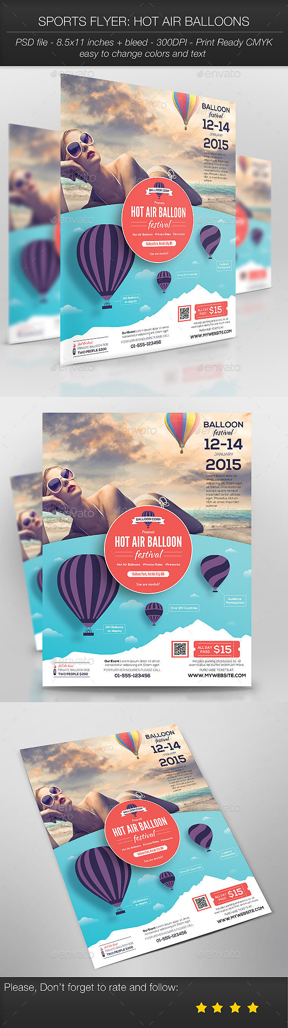 Sports Flyer: Hot Air Balloons - Sports Events