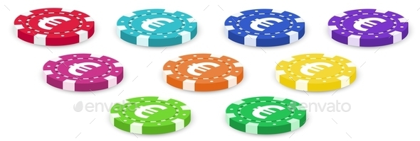 Colorful Poker Chips - Man-made Objects Objects