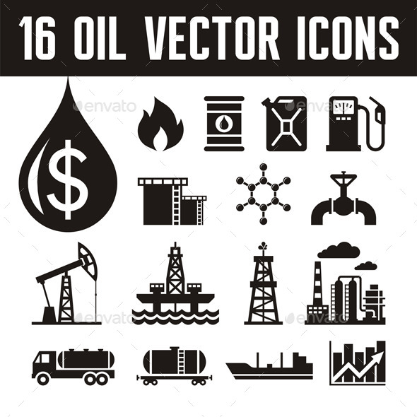 16 Oil Industry Icons - Industries Business