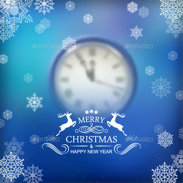 Christmas Typography Clock Background - Christmas Seasons/Holidays