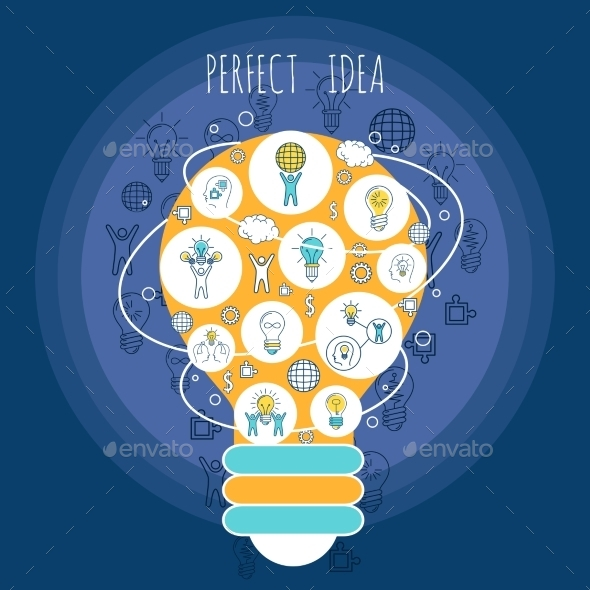 Perfect Idea Poster - Backgrounds Decorative