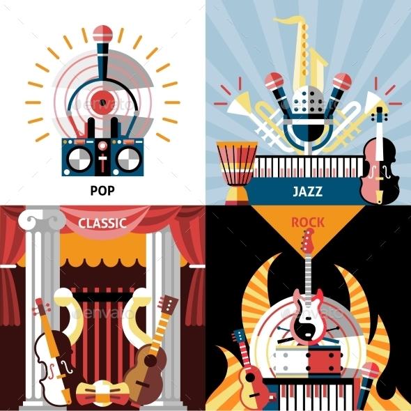 Musical Instruments Flat Set - Miscellaneous Vectors