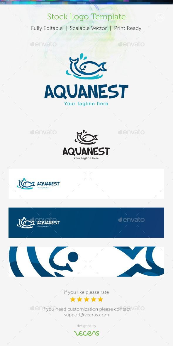 Aquanest  Stock Logo Template  - Animals Logo Templates