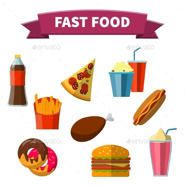 Fast Food Icon - Food Objects
