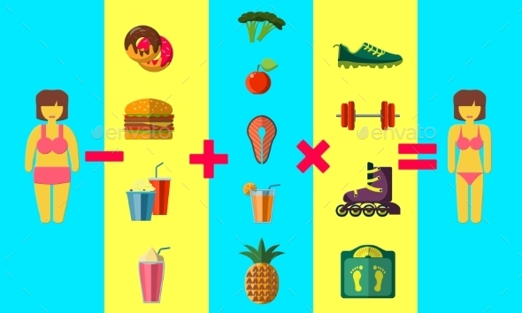 Diet Concept - Food Objects