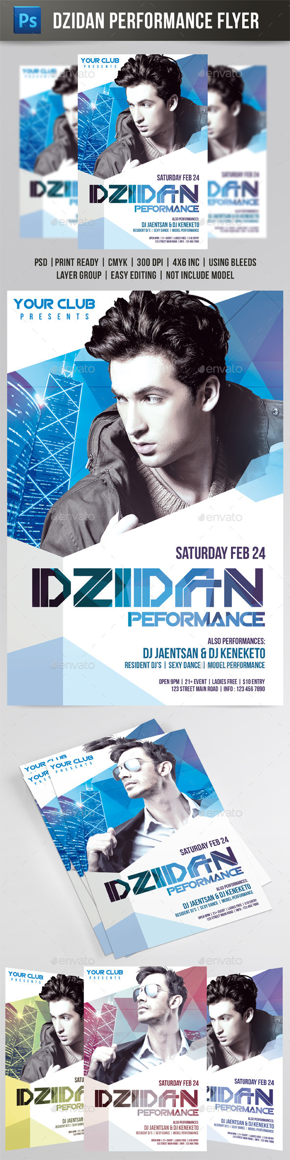 Dzidan Performance Flyer - Events Flyers