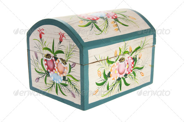Wooden Jewelry Box - Stock Photo - Images