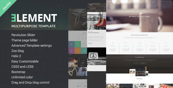 ELEMENT - Multipurpose Joomla Template