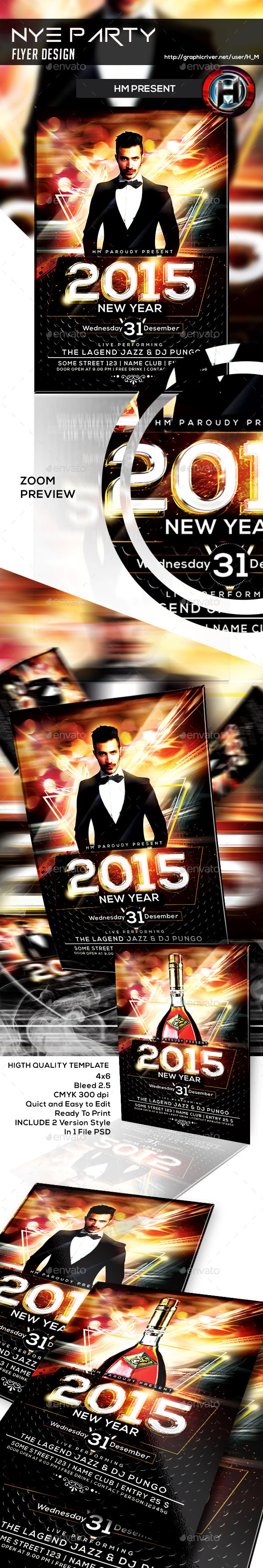 NYE Party Flyer Design - Events Flyers