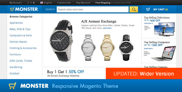 Monster Responsive Magento Theme