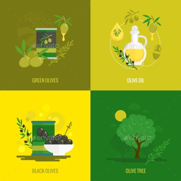 Olives Mini Poster Set - Food Objects