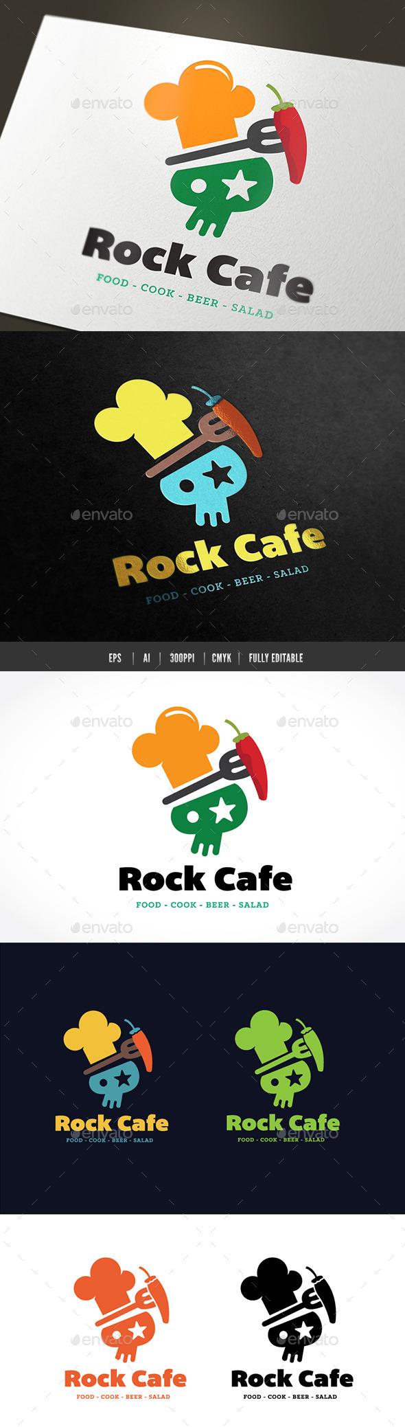 Rock Cafe - Food Logo Templates