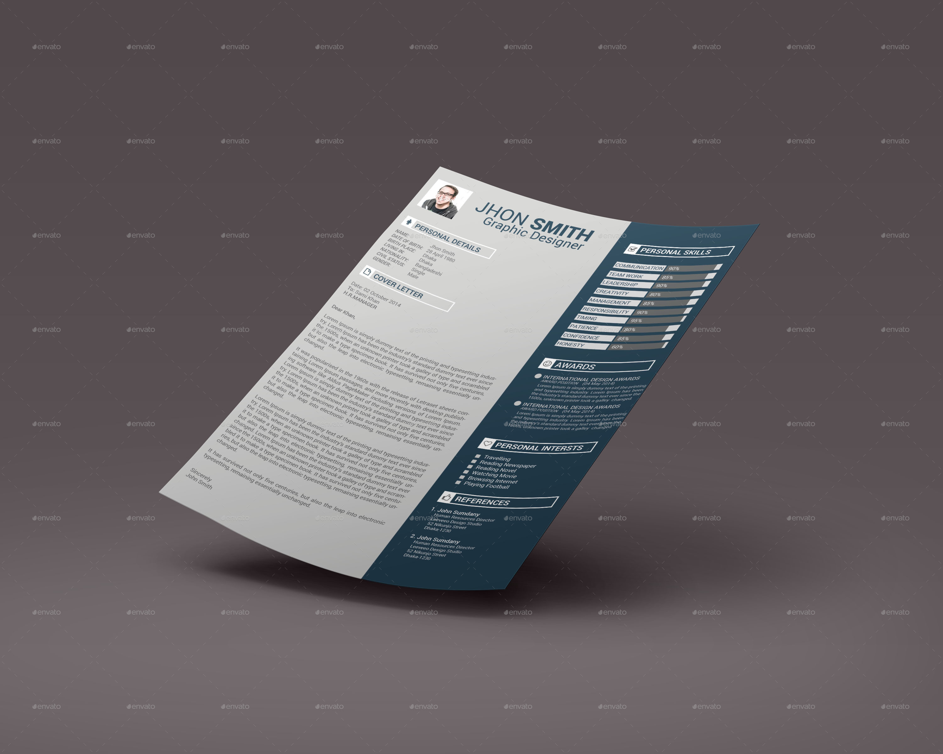 Resume by GoldenLayers | GraphicRiver