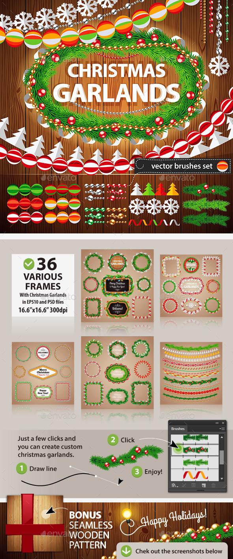 Christmas Garlands Set for Celebratory Design. - Christmas Seasons/Holidays