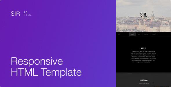 Sir – Responsive HTML5 Portfolio Template