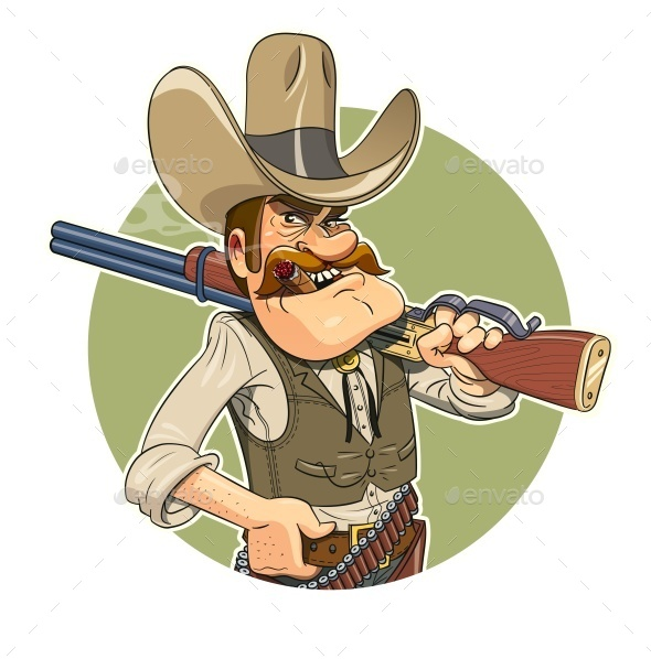 Cowboy with Gun - People Characters