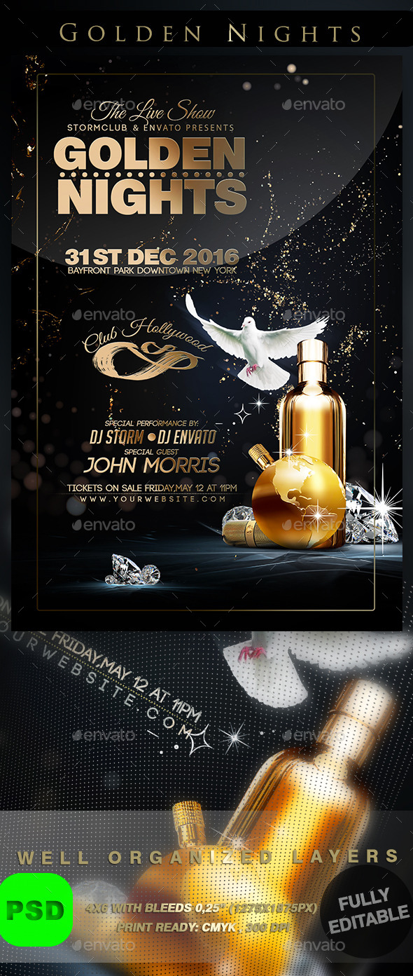 Golden Nights - Events Flyers