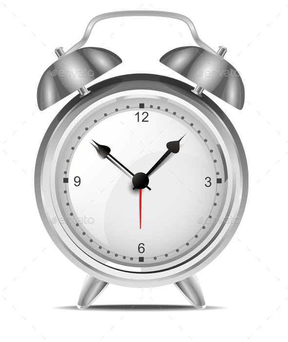 Alarm Clock Vector - Man-made Objects Objects
