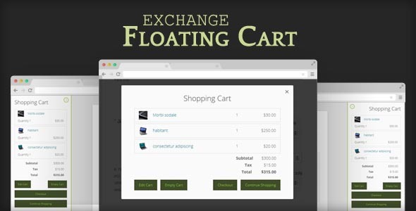 Exchange Floating Cart - CodeCanyon Item for Sale