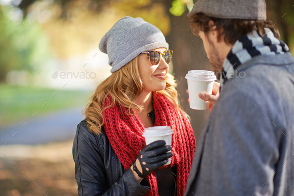 Hot coffee together - Stock Photo - Images