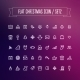 Set of Flat Christmas Icons - GraphicRiver Item for Sale