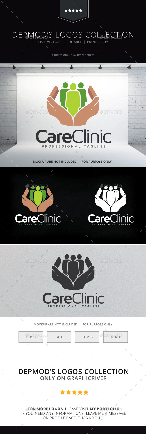 Care Clinic - Humans Logo Templates