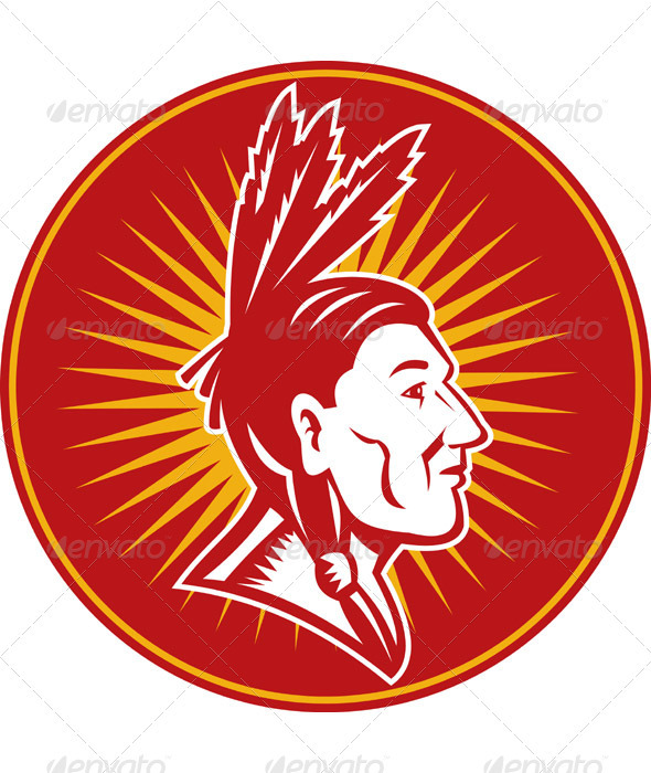 Native American Indian Chief Side - People Characters