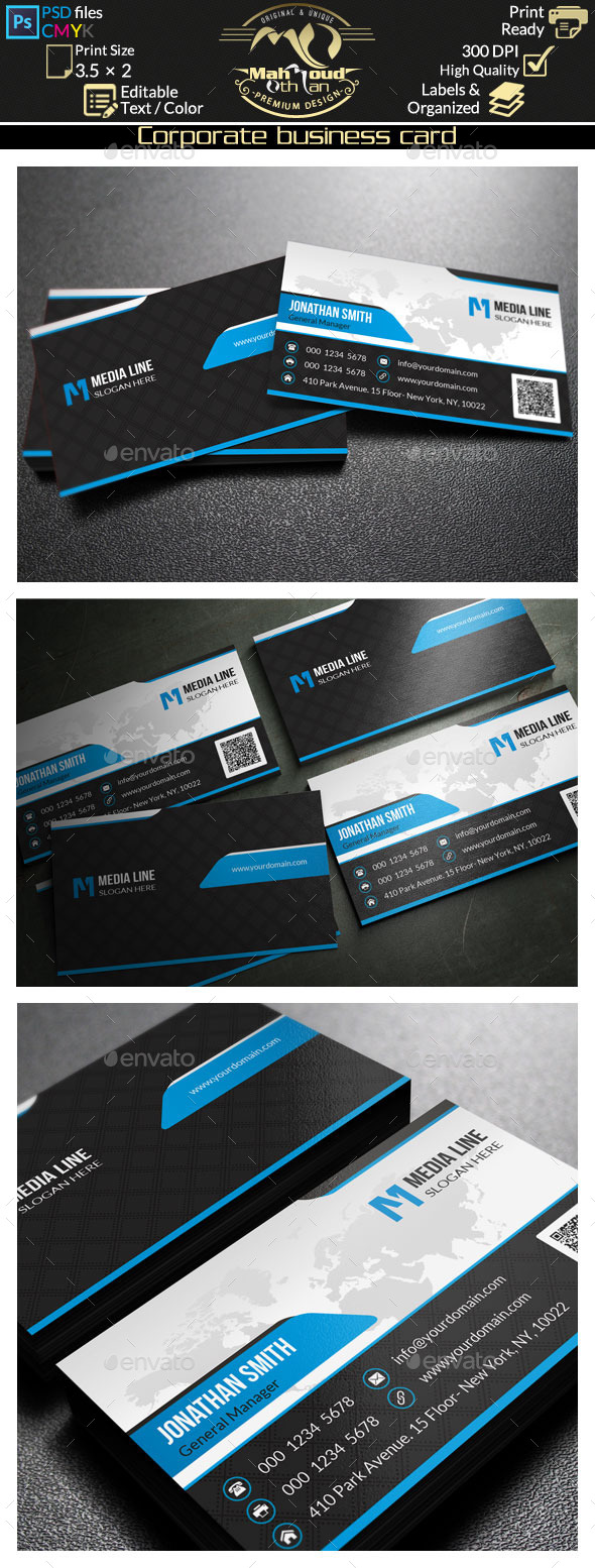 Corporate Business Card 62 - Corporate Business Cards