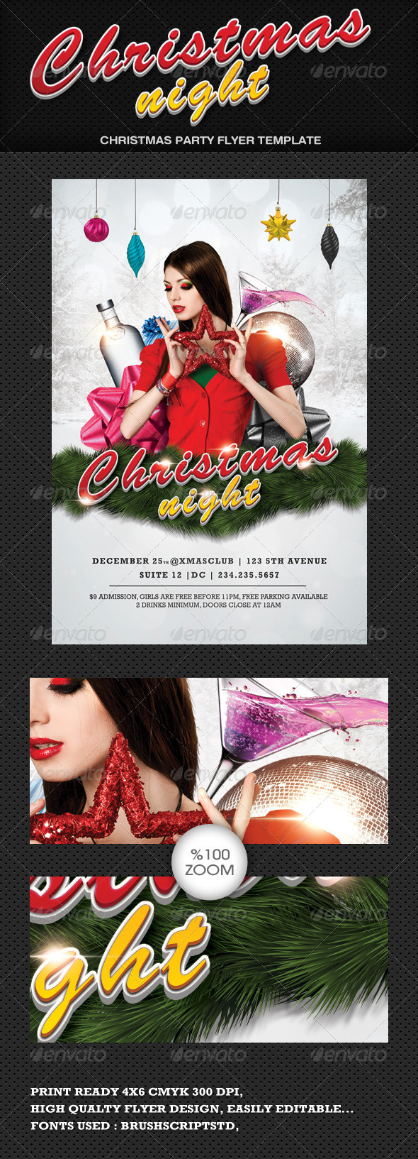Christmas Night Flyer - Clubs & Parties Events