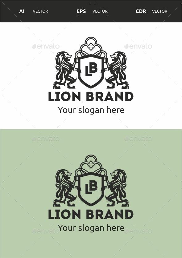 Lion Brand - Crests Logo Templates
