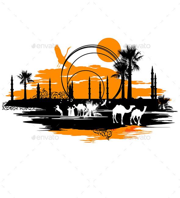 Camels - Nature Conceptual